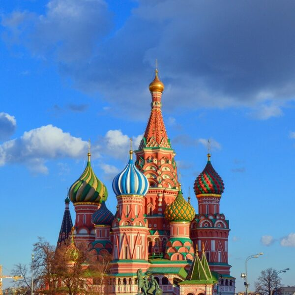 view of Saint Basil's Cathedral in Moscow