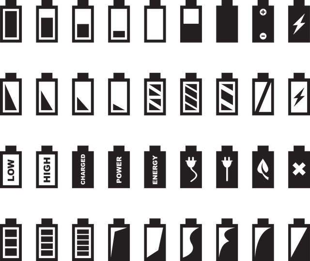 diagram of many different battery types and features