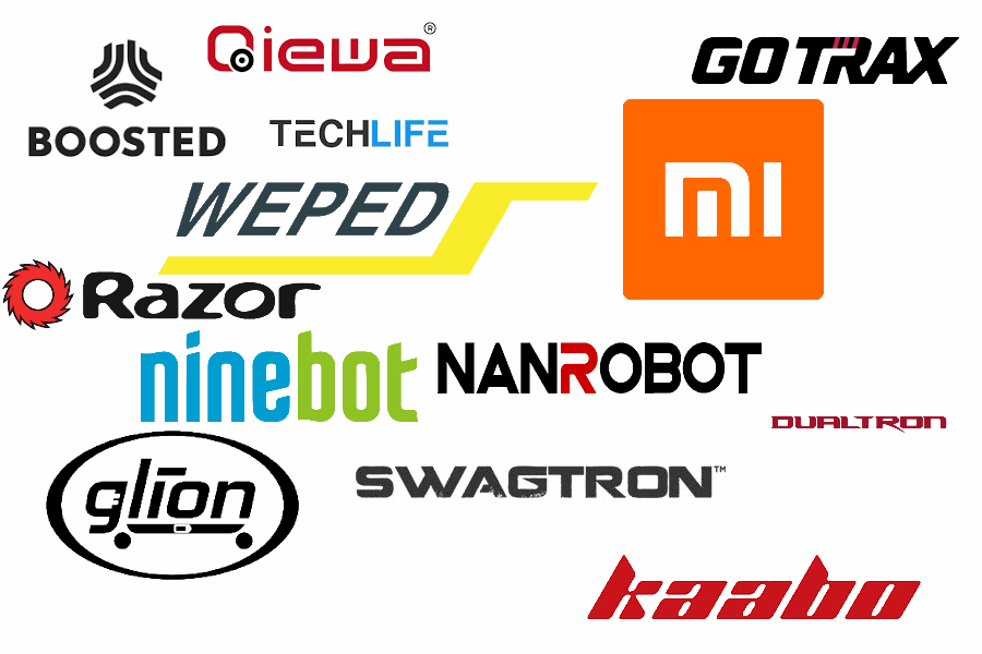 logos of the most popular electric scooter brands