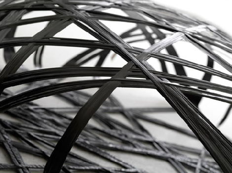 microscopic view of the structure of carbon fiber