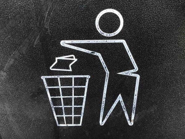 drawing of a person recycling