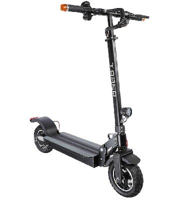 front diagonal view of a black Tarsa T9 electric scooter