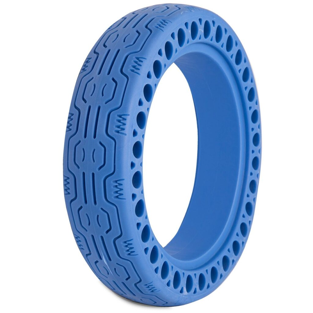 blue honeycomb electric scooter tire