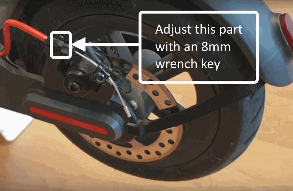 brakes adjustment method written instructions