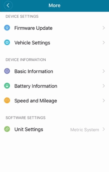 Mi Home App used for Xiaomi M365 Pro