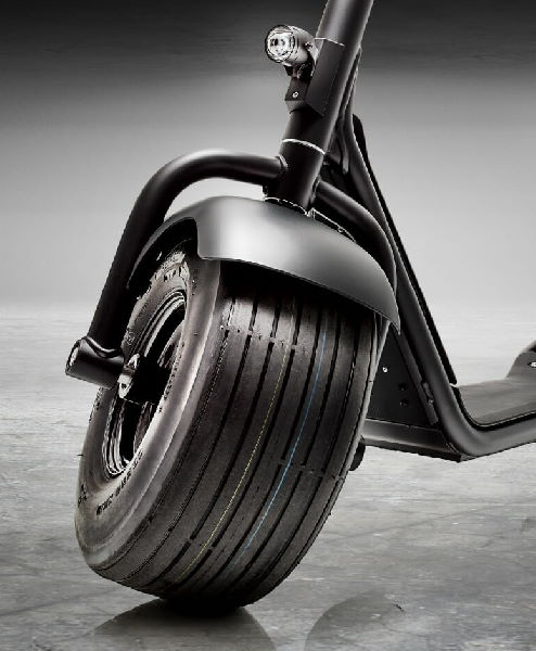 front view of a tire of a fat bike