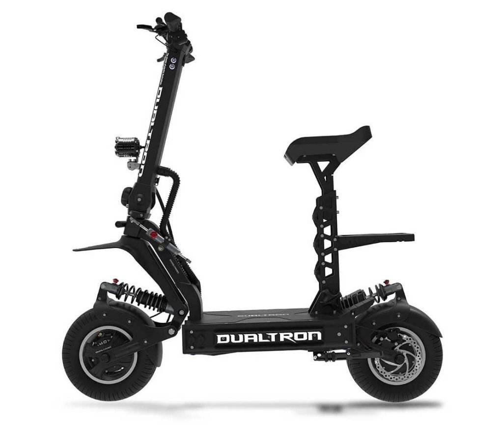 side view of a black Dualtron X