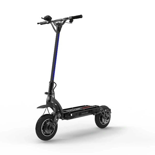 front diagonal view of a Dualtron Spider electric scooter on a white background