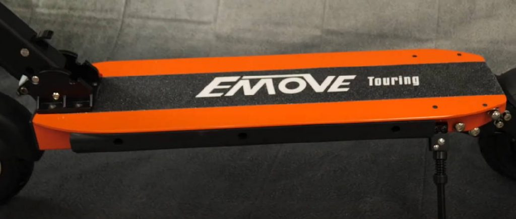 deck of the EMove Touring