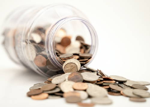 financing represented by a jar full of coins