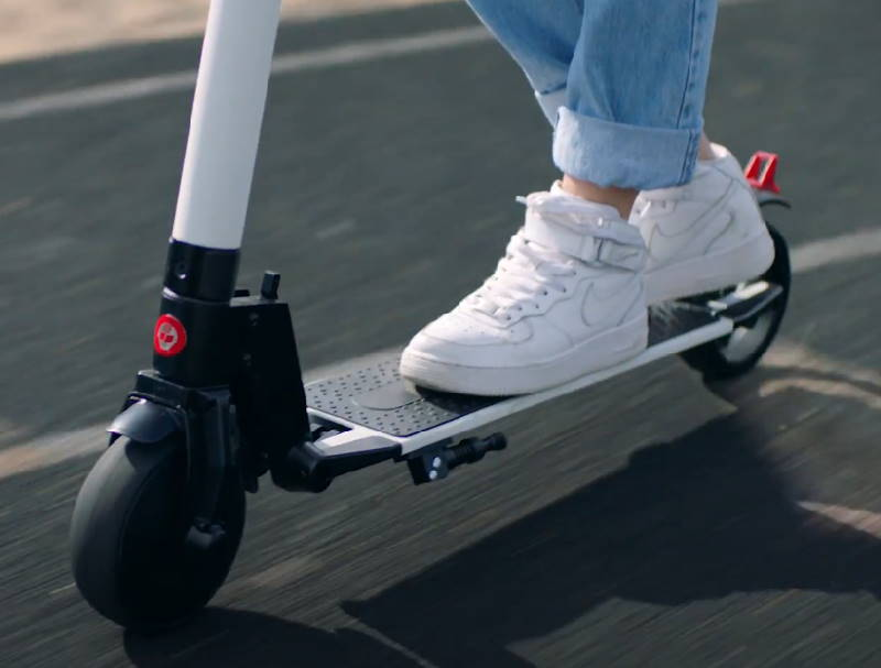person riding the GoTrax G2
