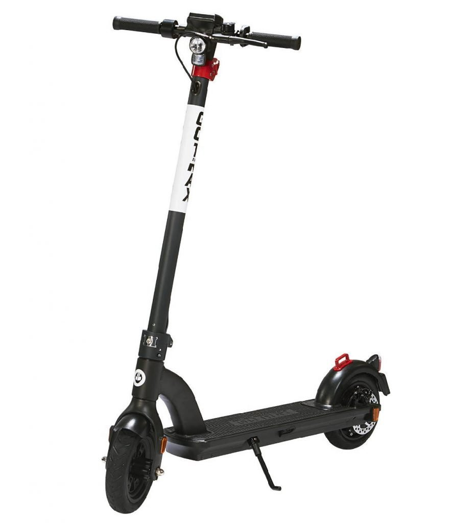 diagonal side view of the GoTrax G4 electric scooter