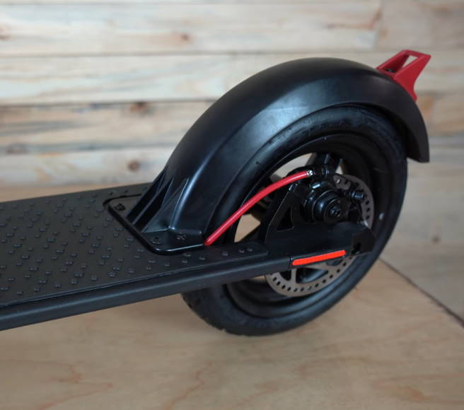rear disk brake of the GoTrax GXL Commuter