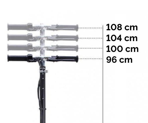 What height should my scooter handlebars be [3 methods + chart]