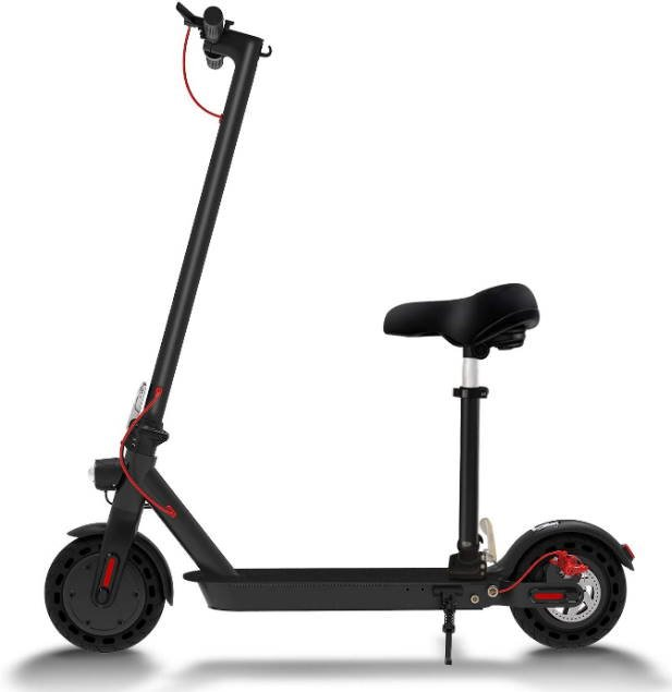 side view of the Hiboy S2 Pro with a seat