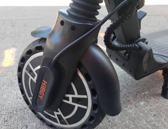 front wheel of the Hiboy Max