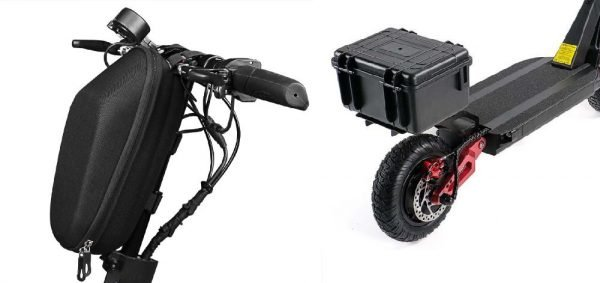 front and back holding bags and trunks for an electric scooter
