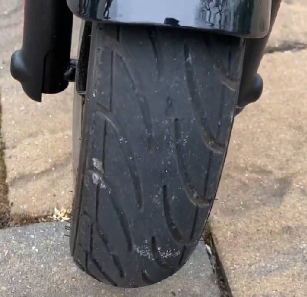 front tire of the Hover 1 Alpha