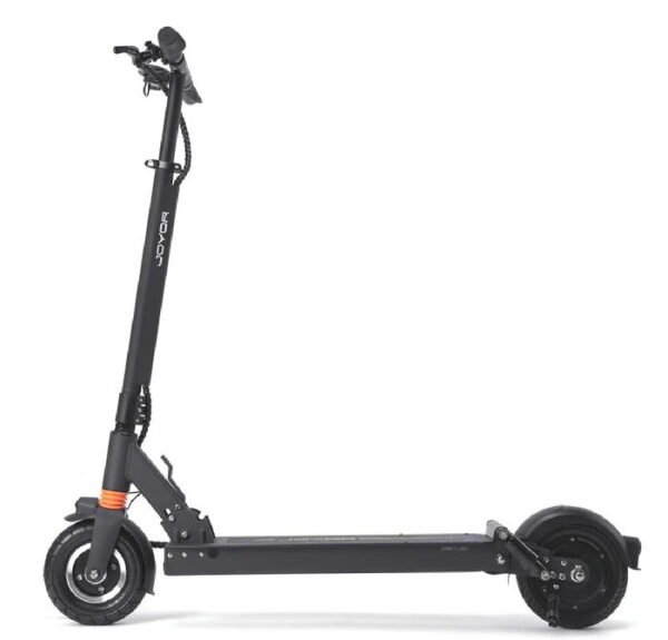 side view of a Joyor LR8 electric scooter on a white background