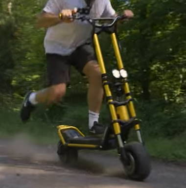 person riding the Kaabo Wolf King