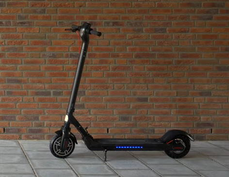 Kugoo ES2 scooter leaning on its kickstand
