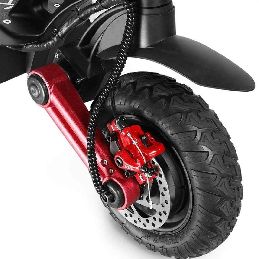 brakes system and suspension on the wheel of the Kugoo G-Booster