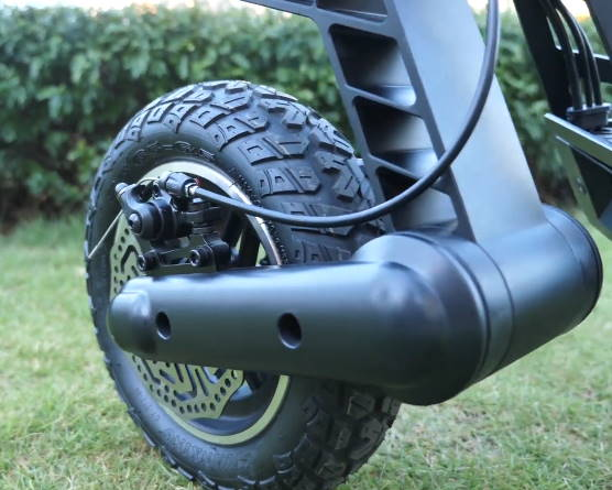 front tire, brake, and suspension of the Kugoo G2 Pro