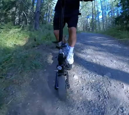 offroad riding with the Kugoo G2 Pro