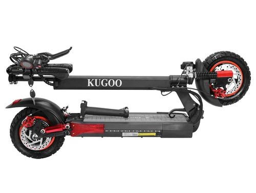 folded Kugoo M4 Pro electric scooter on a white background