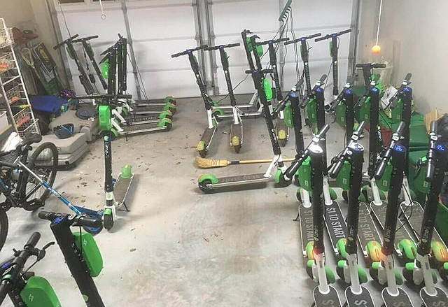 juicing Lime electric scooters