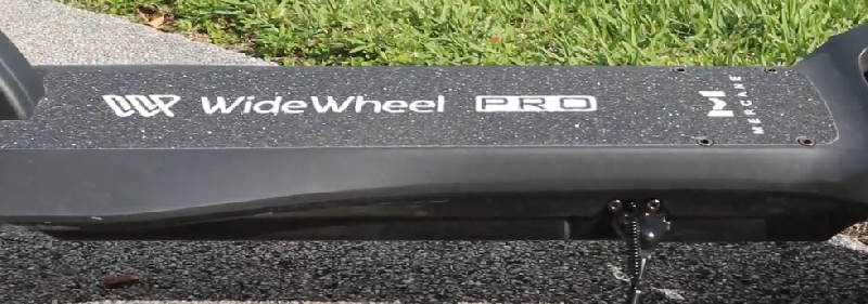 a deck with the Mercane Widewheel logo