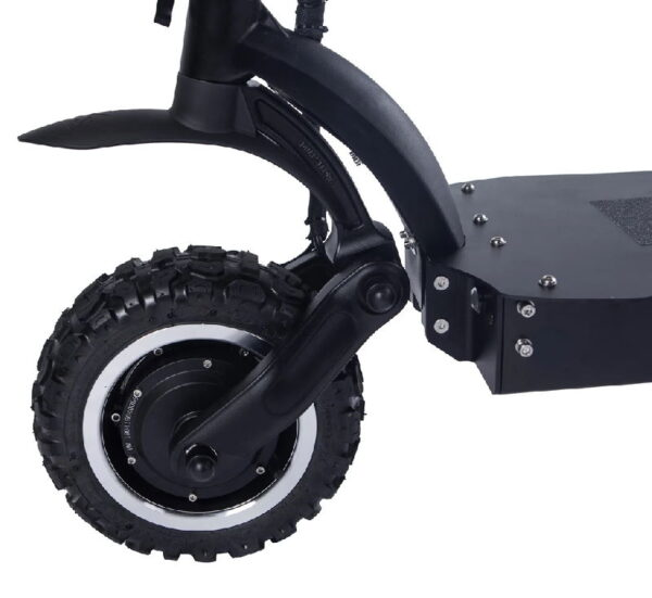 close view of front wheel of NanRobot LS7 electric scooter