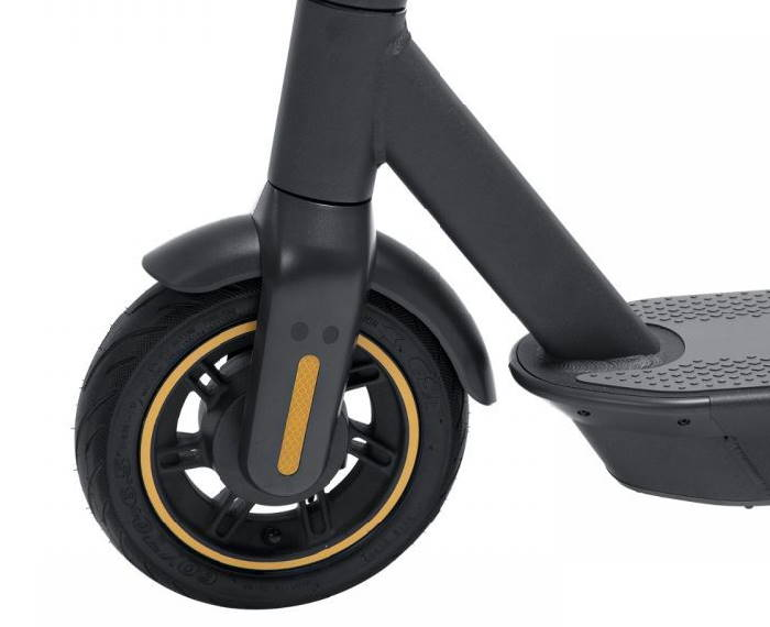 front wheel of the Ninebot Max