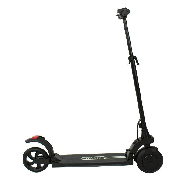 side view of a black Kaabo Air electric scooter on a white background