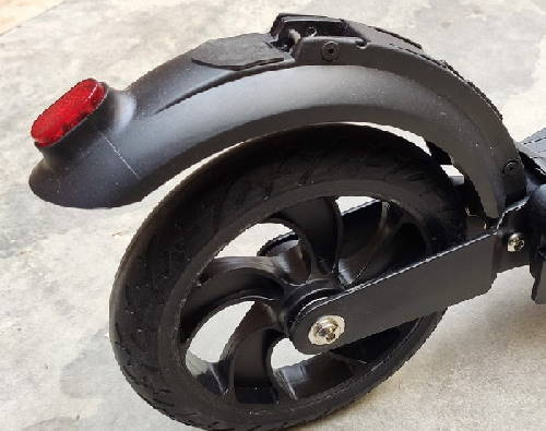 rear fender foot brake of an electric scooter