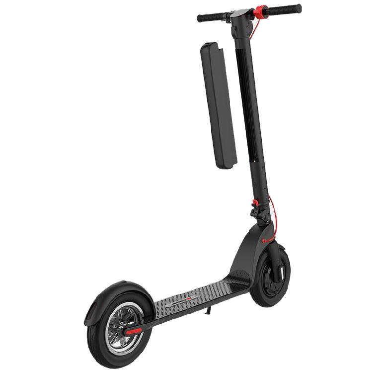 electric scooter with an extra removable battery not attached