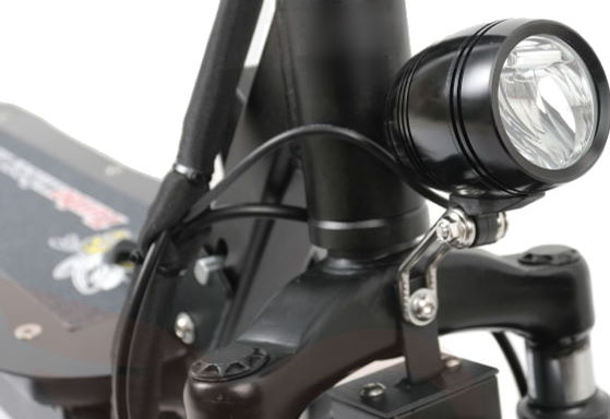 close view of headlight on Turbowheel Hornet electric scooter
