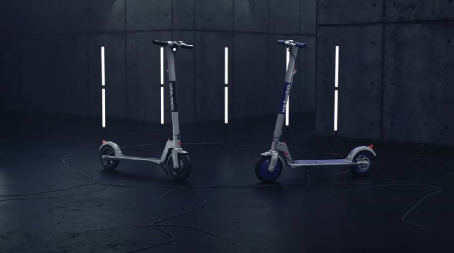 two GoTrax XR Ultra electric scooters facing each other