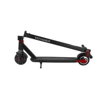 side view of a folded Voyager Ion electric scooter