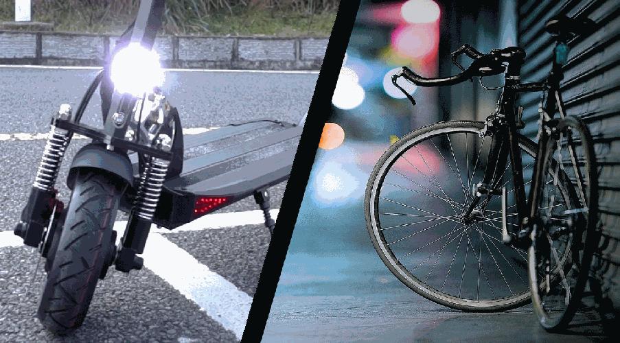 electric scooter vs bike